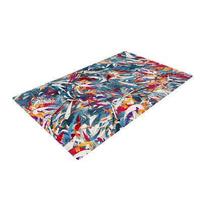 Danny Ivan Excited Colours Abstract Blue Area Rug Rug Size: 4 x 6