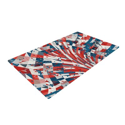 Danny Ivan Feel Again Blue/Red Area Rug Rug Size: 4 x 6