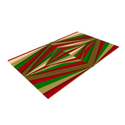 Danny Ivan Christmas Pattern Red/Green Area Rug Rug Size: 4 x 6