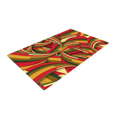 Danny Ivan Excited Christmas Red/Orange Area Rug Rug Size: 2 x 3