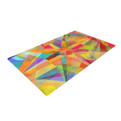 Danny Ivan Star Geometric Yellow Area Rug Rug Size: 2 x 3
