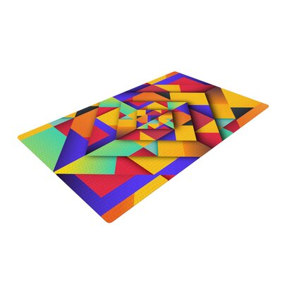 Danny Ivan Shapes II Geometric Yellow/Purple Area Rug Rug Size: 2 x 3