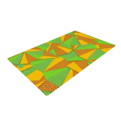 Danny Ivan This Side Green/Yellow Area Rug Rug Size: 2 x 3