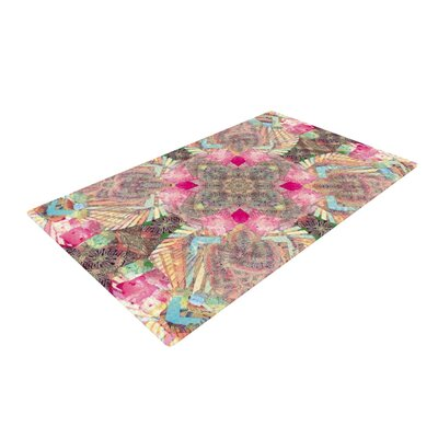 Danii Pollehn Indian Clash Pink Area Rug Rug Size: 4 x 6