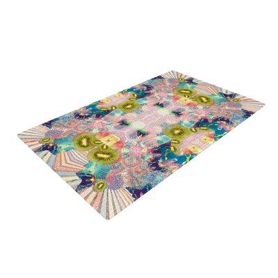 Danii Pollehn LSD Pink/Green Area Rug Rug Size: 2 x 3