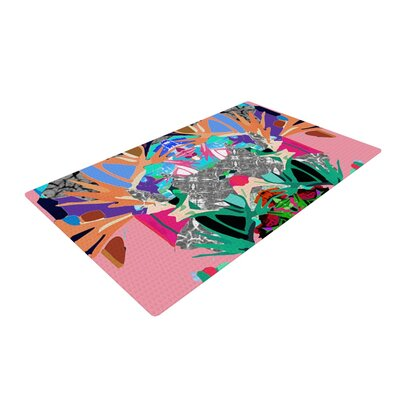 Danii Pollehn Japanese Rorschach Pink/Green Area Rug Rug Size: 2 x 3
