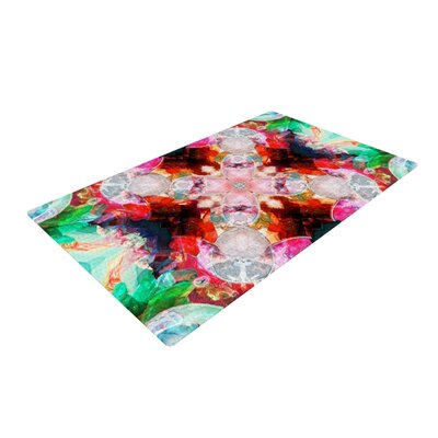 Danii Pollehn Achat I Red/Green Area Rug Rug Size: 4 x 6