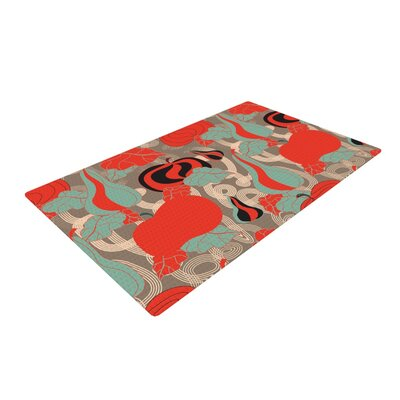 Akwaflorell Its Pumpkin Time Red/Teal Area Rug Rug Size: 4 x 6