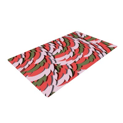 Akwaflorell Wings Green/Red Area Rug Rug Size: 2 x 3