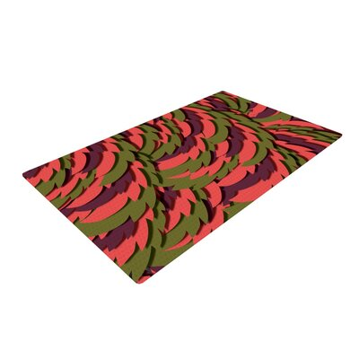 Akwaflorell Wings III Red/Brown Area Rug Rug Size: 4 x 6
