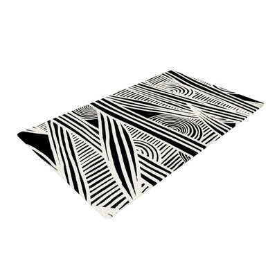 Emine Ortega Graphique Black/White Area Rug Rug Size: 4 x 6