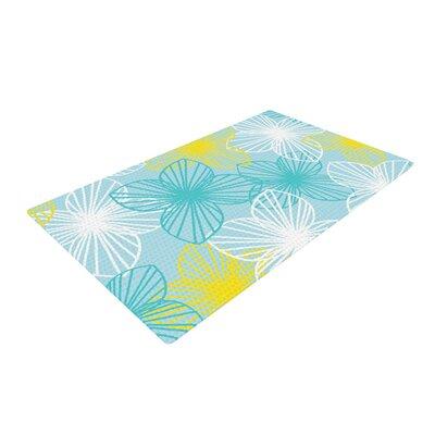 Emine Ortega Sunshine Blue/Teal Area Rug Rug Size: 2 x 3