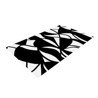 Emine Ortega Sinuous Black/White Area Rug Rug Size: 2 x 3