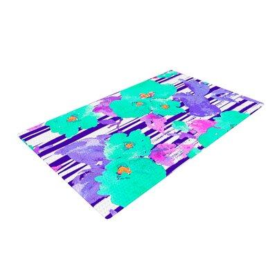 Emine Ortega Cherry Blossom Teal/Purple Area Rug Rug Size: 4 x 6