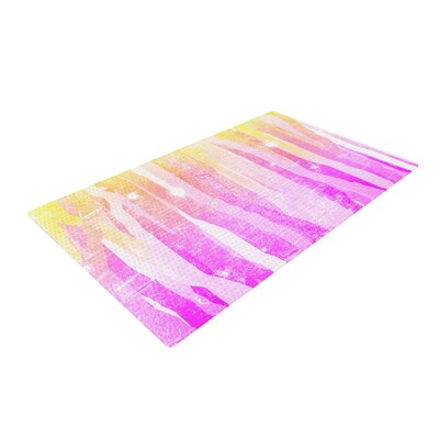 Frederic Levy-Hadida Jungle Stripes Painting Yellow Area Rug Rug Size: 4 x 6