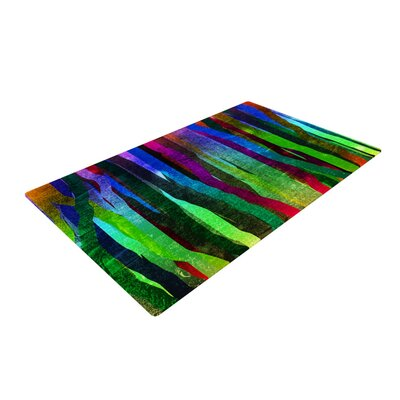 Frederic Levy-Hadida Jungle Stripes II Rainbow Area Rug Rug Size: 2 x 3