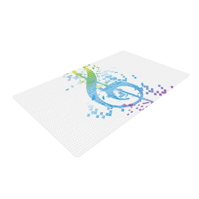 Frederic Levy-Hadida Key Music Rainbow Area Rug Rug Size: 4 x 6