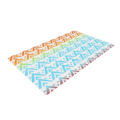 Frederic Levy-Hadida Antilops Chevron Pattern Blue/Orange Area Rug Rug Size: 2 x 3