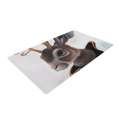 Graham Curran Lucid Jack Rabbit Brown Area Rug Rug Size: 4 x 6