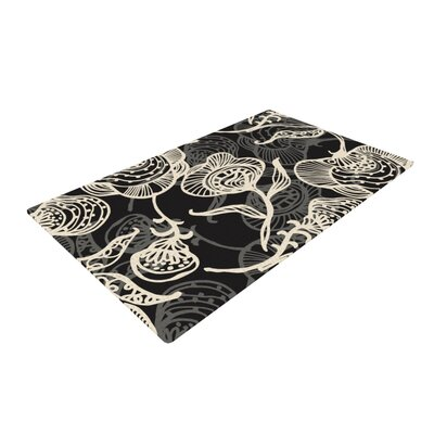 Gill Eggleston Future Nouveau Lite Black/White Area Rug Rug Size: 2 x 3
