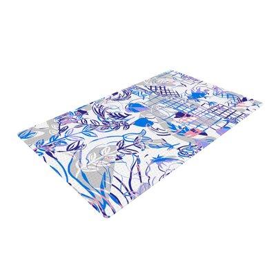 Gabriela Fuente She Blue/White Area Rug Rug Size: 2 x 3