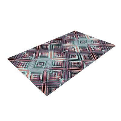 Gabriela Fuente Caledoscope Purple/Teal Area Rug Rug Size: 4 x 6