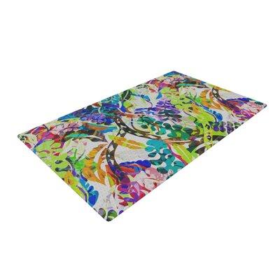 Gabriela Fuente Flow Floral Rainbow Area Rug Rug Size: 2 x 3
