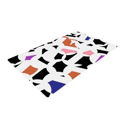 Gabriela Fuente Geo Fun White Area Rug Rug Size: 4 x 6