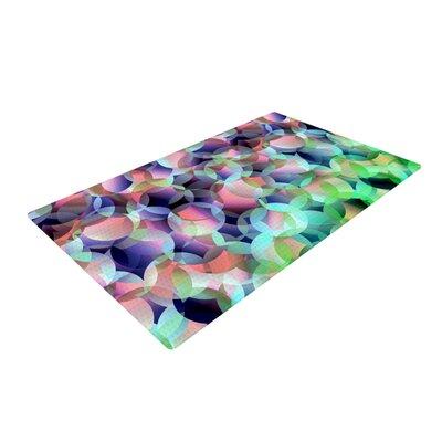 Gabriela Fuente Bubbles Purple/Green Area Rug Rug Size: 2 x 3