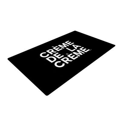 Geordanna Cordero-Fields Creme De La Creme Black/White Area Rug Rug Size: 4 x 6