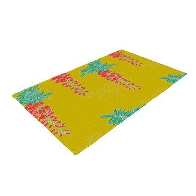Gukuuki Ipanema Yellow Area Rug Rug Size: 4 x 6