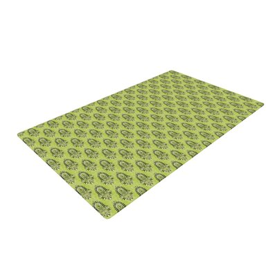 Holly Helgeson Deco Flourish Pattern Green Area Rug Rug Size: 2 x 3