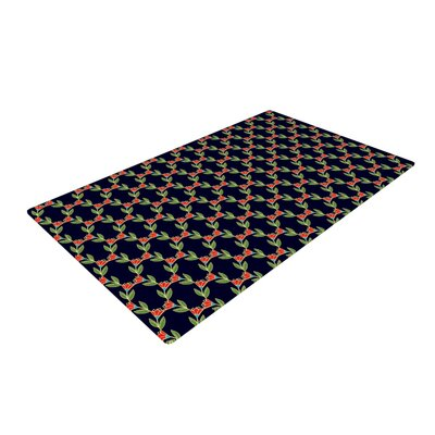 Holly Helgeson Midnight Vine Pattern Black Area Rug Rug Size: 2 x 3