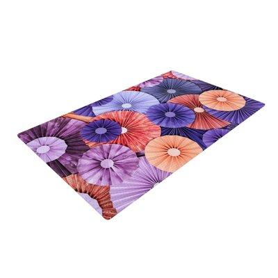 Heidi Jennings Raspberry Sherbert Purple/Blue Area Rug Rug Size: 2 x 3