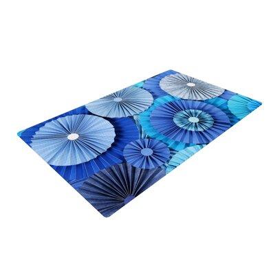 Heidi Jennings Lagoon Aqua/Navy/Blue Area Rug Rug Size: 2 x 3