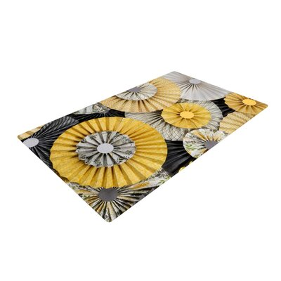 Heidi Jennings Daffodil Yellow/Black Area Rug Rug Size: 4 x 6