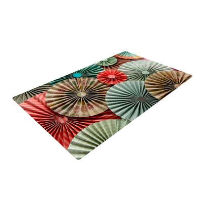 Heidi Jennings Sherbert Teal/Brown Area Rug Rug Size: 2 x 3
