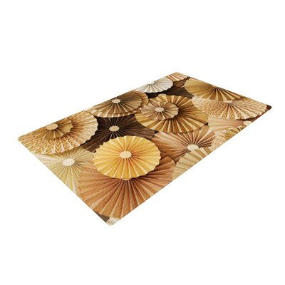 Heidi Jennings Caramel Latte Yellow/Gold Area Rug Rug Size: 4 x 6