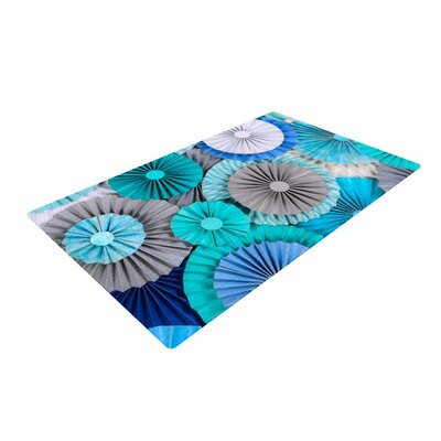Heidi Jennings Brunch at Tiffanys Aqua/Blue Area Rug Rug Size: 2 x 3