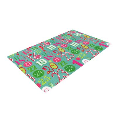 Heidi Jennnings Merry Countdown Green/Pink Area Rug Rug Size: 2 x 3