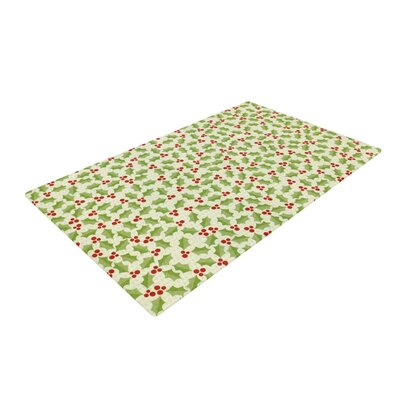 Heidi Jennnings Oh Holly Night Green Area Rug Rug Size: 4 x 6