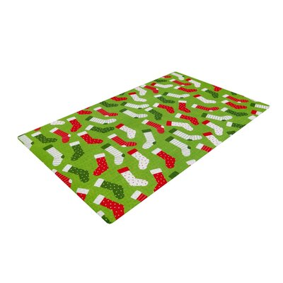 Heidi Jennnings Stocking Season Red/Green Area Rug Rug Size: 2 x 3
