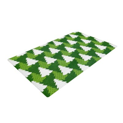 Heidi Jennnings Pine Forest Green/White Area Rug Rug Size: 4 x 6