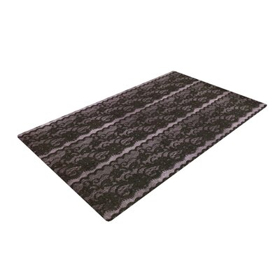 Heidi Jennings Lace Gray/Black Area Rug Rug Size: 2 x 3