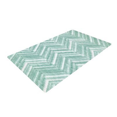Heidi Jennings Painted Chevron Teal/Green Area Rug Rug Size: 4 x 6