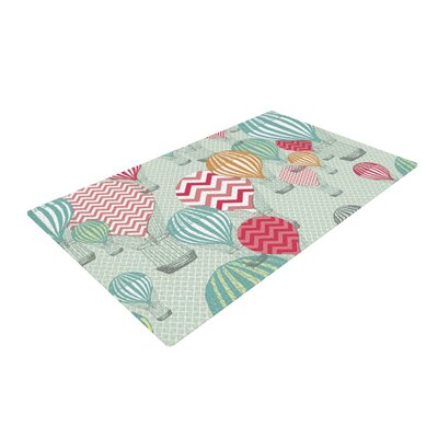 Heidi Jennings Go Fly a Kite Teal Area Rug Rug Size: 4 x 6
