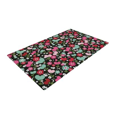 Heidi Jennings Love is Growing Pink/Green Area Rug Rug Size: 2 x 3
