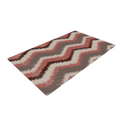 Heidi Jennings Fuzzy Chevron Red/Brown Area Rug Rug Size: 2 x 3