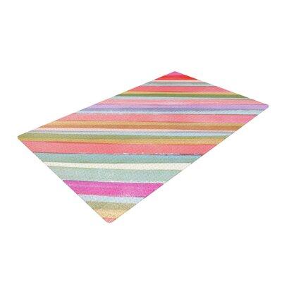 Heidi Jennings Stripes Pastel/Pink Area Rug Rug Size: 2 x 3
