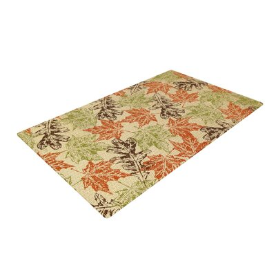 Heidi Jennings Leaf it to Me Green/Brown Area Rug Rug Size: 2 x 3